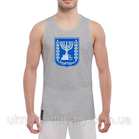 Майка мужская - Герб Израиля, отличный подарок купить со скидкой, недорого, фото 2