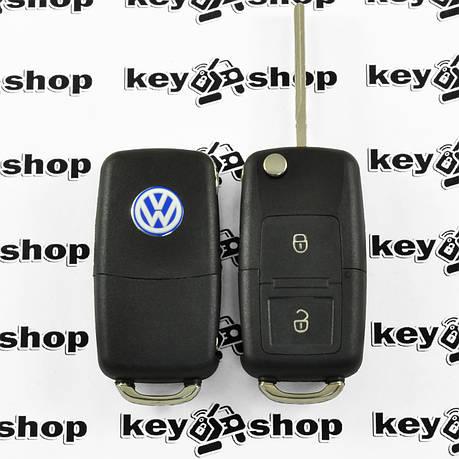 Корпус выкидного ключа для VOLKSWAGEN Golf, Polo, Transporter (Фольксваген Гольф, Поло, Транспортер) 2- кнопки, фото 2