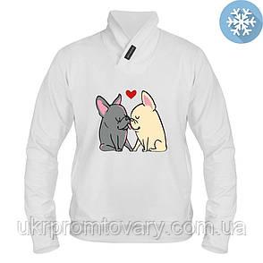 Толстовка утепленная - Целующиеся собачки, отличный подарок купить со скидкой, недорого, фото 2