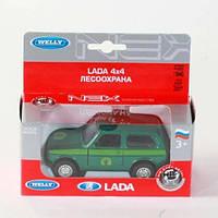 "Машина Welly, ""LADA 4X4 FOREST CONSERVATION"", метал., в кор. 15*"