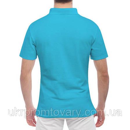 Мужская футболка Поло - Любви достойна только мама, отличный подарок купить со скидкой, недорого, фото 2