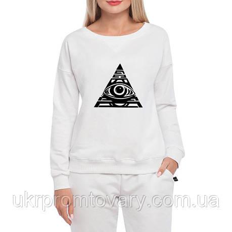 Свитшот женский - All seeing eye, отличный подарок купить со скидкой, недорого, фото 2