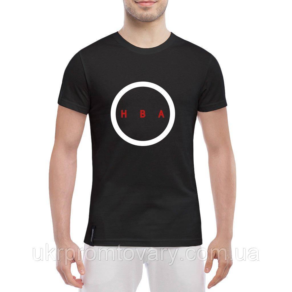 Мужская футболка - HBA logo, отличный подарок купить со скидкой, недорого