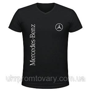 Футболка мужская V-вырезом - Mercedes-Benz logo, отличный подарок купить со скидкой, недорого, фото 2