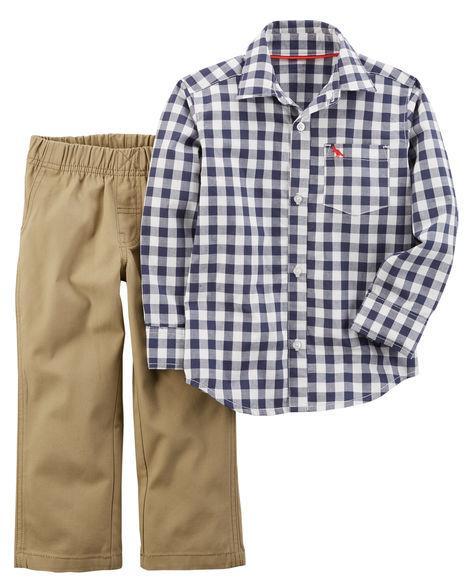 Рубашка и джинсы для мальчика 12-24 мес