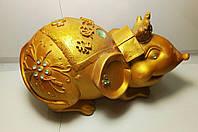 Копилка Мышь Золотая