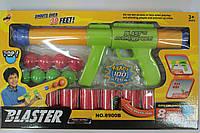Помповое оружие с шариками, мишени бочки, в коробке
