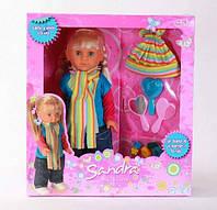 """Кукла Falca """"Сандра"""", аксессуары (резин., заколочки, расческа, з"""