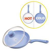 Сковорода  Maestro с индикатором нагрева 26 см, с крышкой