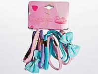 Резинки для волос 12 шт. с бантом цветные
