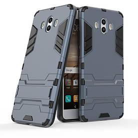 Чехол накладка для Huawei Mate 10 противоударный силиконовый с пластиком, Alien, темно-синий
