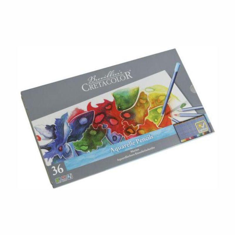 Набор акварельных карандашей, 36 цветов, металлический пенал, Marino, Cretacolor, 90524036