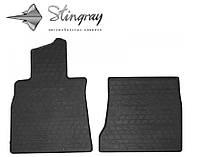 Резиновые коврики Stingray Стингрей Mercedes-Benz W222 S long 2013- Комплект из 2-х ковриков Черный в салон. Доставка по всей Украине. Оплата при