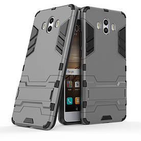 Чехол накладка для Huawei Mate 10 противоударный силиконовый с пластиком, Alien, серый