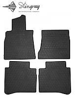 Резиновые коврики Stingray Стингрей Mercedes-Benz W222 S long 2013- Комплект из 4-х ковриков Черный в салон. Доставка по всей Украине. Оплата при