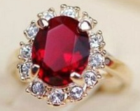 Кольцо Кейт Рубин в золоте, фото 1