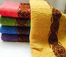 Банные полотенца с узором