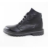 Кожаные зимние ботинки на меху (шерсть) унисекс от UNCIA SHOES