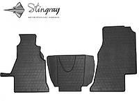 Килимки гумові ФОЛЬКСВАГЕН ЛТ 2 (1+2) 1995-2006 Комплект из 3-х ковриков Черный в салон