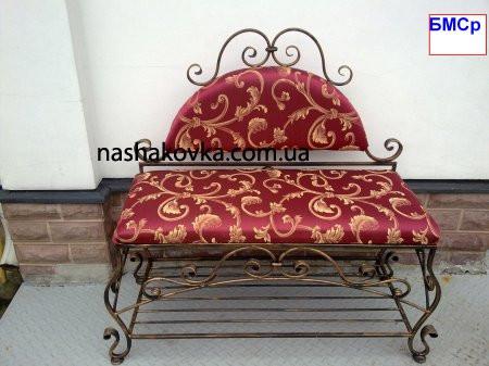 Кованые диванчики со спинками