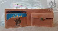 Гаманець кошелек Weal, мужской кожаный кошелек натуральна шкіра, ручна робота, фото 1