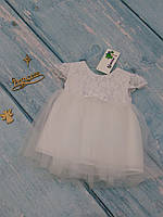 Фатиновое платье с пышной юбкой для девочки, р. 74