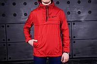 Анорак мужской Nike, ветровка, курточка (красный), Реплика
