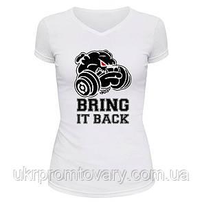 Футболка женская V-вырезом - bring it back, отличный подарок купить со скидкой, недорого, фото 2
