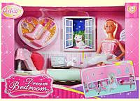 """Кукла типа """"Барби""""Anlily"""" 99051 (12шт/2) с питомцем,кровать,лампа,обувь,аксесс...в кор.37*17*26"""
