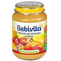 Bebivita  Früchte Pfirsich mit Maracuja in Birne - Фруктовое пюре: персик-маракуйя-груша 190 г , от 4-го мес.
