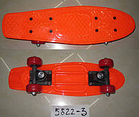 Скейт 5822-3 (12шт)пластик.крепление,колеса PVC, 42*13 см,6 цветов