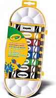 Краски темперные, в тюбике, с кисточкой, 8 цветов,12мл, в пл. уп. 26*10см, ТМ Crayola