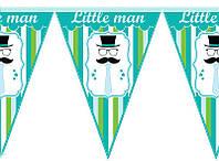 Гирлянды бумажные флажки Little Man