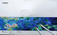 Набор цветных карандаши Marco Raffine36 цвета, фото 1