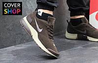 Кроссовки мужские Nike Air Presto, коричневые, материал - замша, подошва - пенка