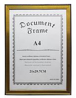 Фоторамка красное дерево/сосна/золото 21*29.7 см.