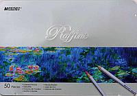 Набор цветных карандаши Marco Raffine 50 цвета, фото 1