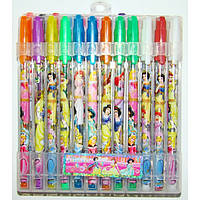 Наборы гелевых ручек с блёстками ДИСНЕЙ Принцессы 24 цвета