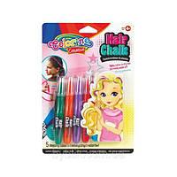 Краски для волос, 5 цветов, микс, на планшете 25*18см., ТМ Colorino