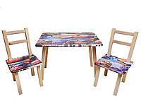 """Столик 60*46см + 2 стула """"Тачки"""""""