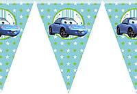 Гирлянды бумажные флажки Baby голубая 2 метра