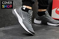 Кроссовки мужские Nike Air Presto, серые, материал - замша, подошва - пенка
