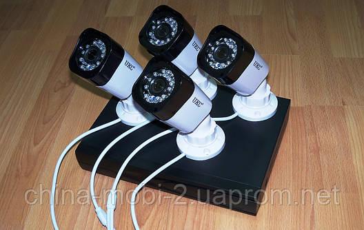 Комплект видеонаблюдения, регистратор + 4 камеры, UKC DVR KIT D001-4CH, 1.0MP, фото 2