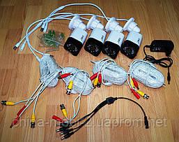 Комплект видеонаблюдения, регистратор + 4 камеры, UKC DVR KIT D001-4CH, 1.0MP, фото 3