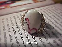 Женское кольцо модное стильное ретро винтаж золото камень бирюза