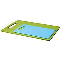 IKEA LEGITIM Разделочная доска, 2 шт., Зеленый, синий  (301.531.24)