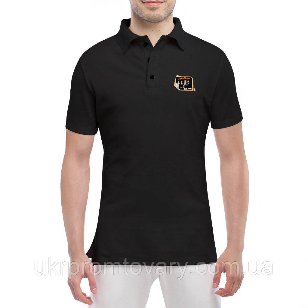 Мужская футболка Поло - Paramore, отличный подарок купить со скидкой, недорого