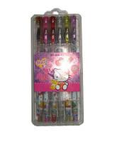 Наборы гелевых ручек с блёстками ДИСНЕЙ Hello Kitty 12 цветов