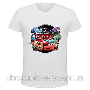 Футболка мужская V-вырезом - Cars, отличный подарок купить со скидкой, недорого, фото 2