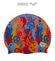 Силиконовая шапочка для плавания Arena Print 2 Underwater Mango